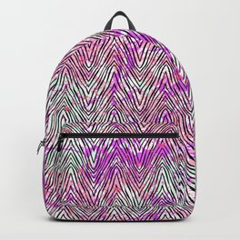 Vector zebra pattern on watercolor splashes Backpack