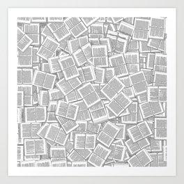 Literary Overload Art Print