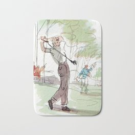 Are You Looking At My Putt? Vintage Golf Bath Mat