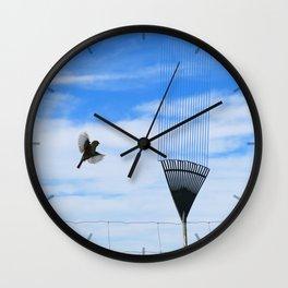 Silvereye saw it in the sky Wall Clock