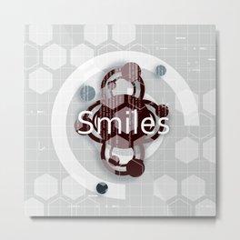 Smiles Metal Print
