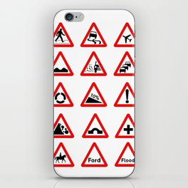 15 Triangle Traffic Signs iPhone Skin