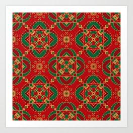 Sweet Melody Of Rajasthan Seamless Pattern Art Print