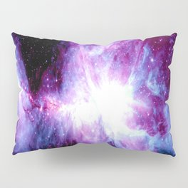 Orion Nebula Purple Periwinkle Blue Galaxy Pillow Sham