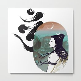 Shiva Mood Rise Metal Print