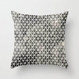 Black Hand-Drawn Triangles Throw Pillow
