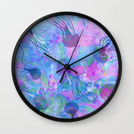 Jellyfish Flow Wall Clock