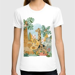 African Animals in the Jungle T-shirt