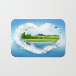 the green island Bath Mat