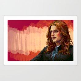Kate Beckett Art Print