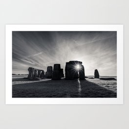 The sun and the stones Art Print