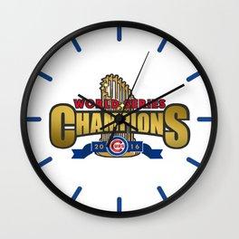 Cubs World Series Winner 2016 Wall Clock