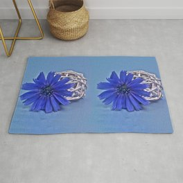 Still life with chicory flower Rug