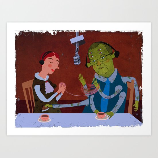 interview with the alien Art Print