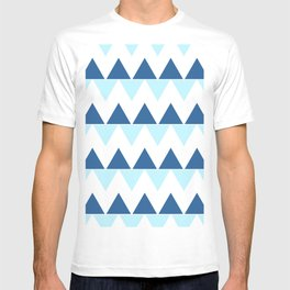 Triangle Chevron; Blue T-shirt