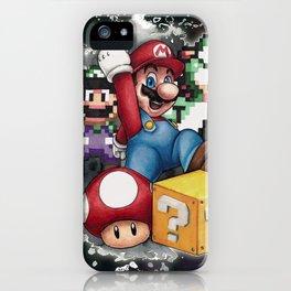 Mario et ses amis iPhone Case