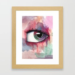 Watercolor Eye Framed Art Print