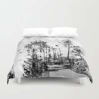 woodland Duvet Covers featuring Woodland by Schwebewesen • Romina Lutz