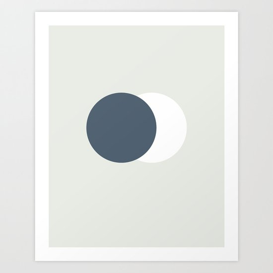 Earth Moon Hug Art Print