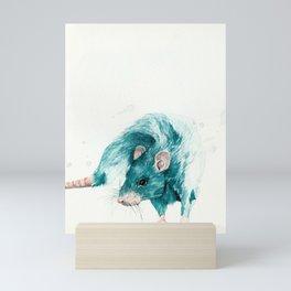 Blue rat Mini Art Print