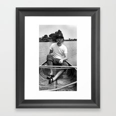 Ronn boating it up. Framed Art Print