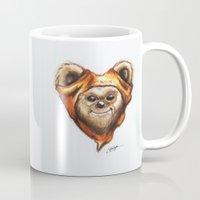 ewok Mugs featuring Ewok Star Wars Heart Art by Sam Skyler