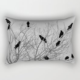 Murder Of Crows - Four Rectangular Pillow