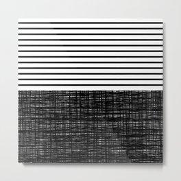platno (black stripes) Metal Print