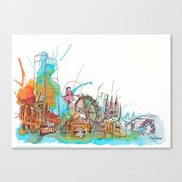 Colours of Melbourne Landscape Canvas Print