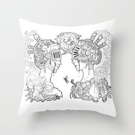 love and other comodities Throw Pillow