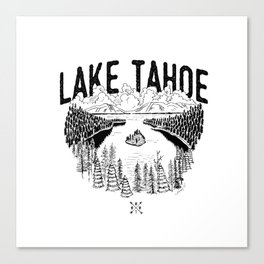 Lake Tahoe - We Who Wander Threads Canvas Print