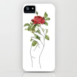 Flower in the Hand iPhone Case