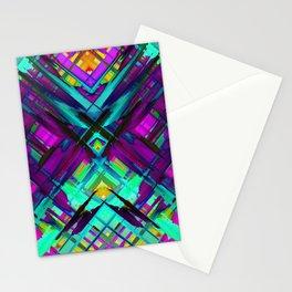 Colorful digital art splashing G472 Stationery Cards