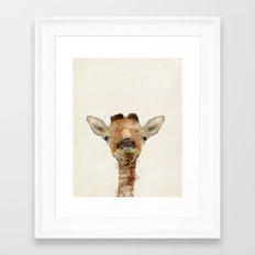 little giraffe Framed Art Print