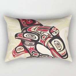 Eagle Fin Killer Whale Rectangular Pillow