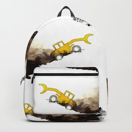 yellow grab crane crawls out Backpack
