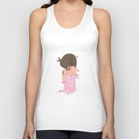 pigs Tank Tops featuring Little pigs by happymiaow