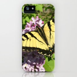 Butterfly on a lilac bush iPhone Case