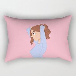 Character Girl #247 - Pink Rectangular Pillow