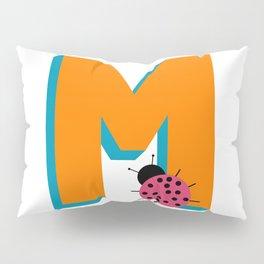 Letter M Pillow Sham
