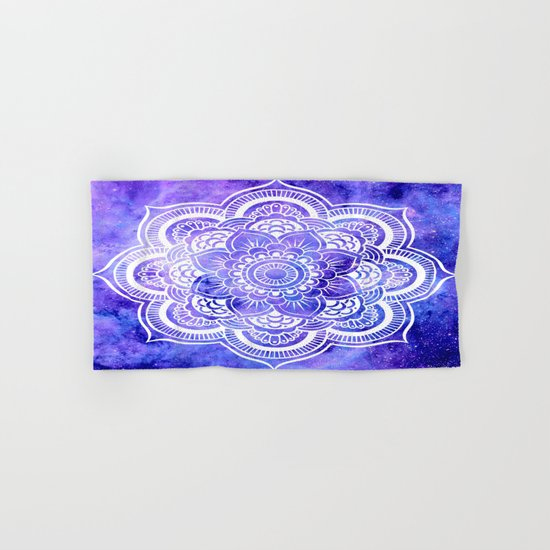 Mandala Violet Blue Galaxy Space Hand & Bath Towel