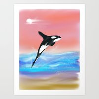 killer whale Art Prints featuring Killer Whale by Tim Cornwall