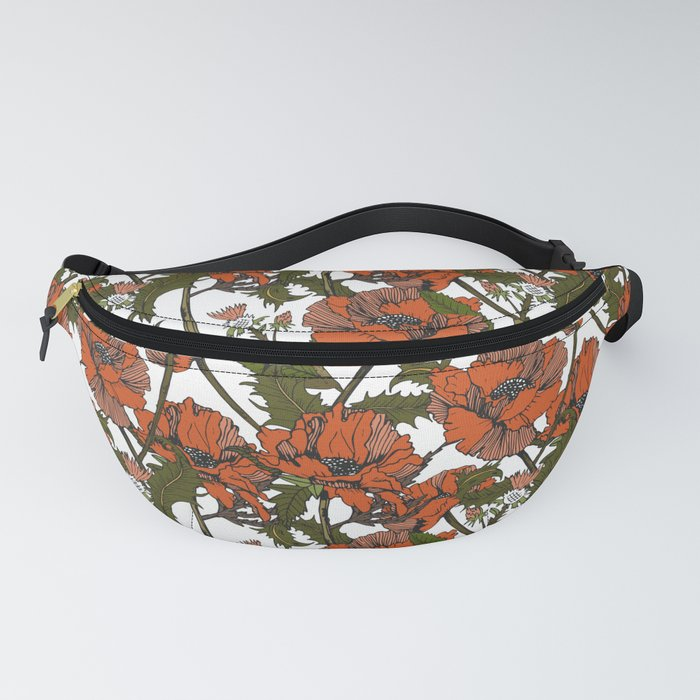 Autumnal flowering of poppies I Fanny Pack