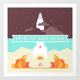 High Spirits Art Print