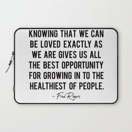 Knowing that we can be loved Laptop Sleeve