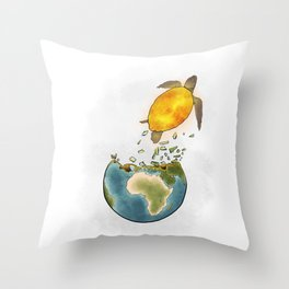 Climate changes the nature Throw Pillow