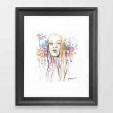 Meditation, watercolor  Framed Art Print