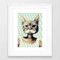 kitten Framed Art Prints featuring Kitten by zumzzet