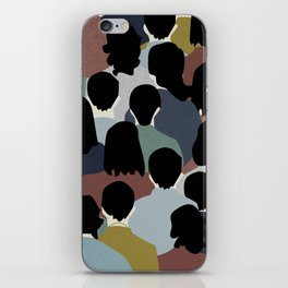 STANDING IN A CROWD iPhone Skin