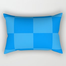 Blue 2 Tone Pattern Rectangular Pillow